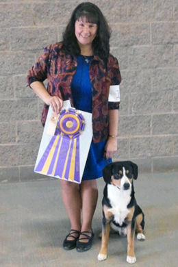 Photo taken by Canine Chronicle after winning the Entlebucher Specialty