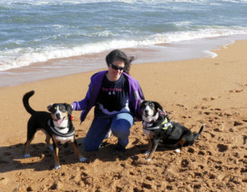 Joyce, Data and Kai at Flagler Beach Florida 2015